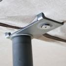 Base tapizada partida Malla 3D Transpirable Gris