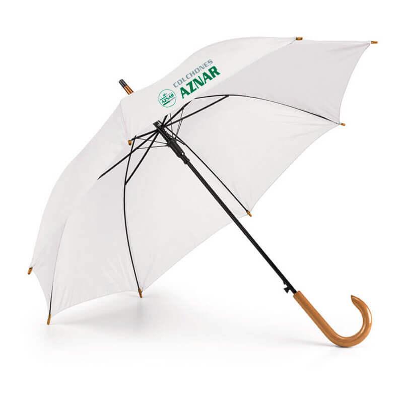 Paraguas automatico con mango de madera