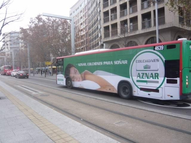 Autobús de Colchones Aznar, ya lo puedes ver por Zaragoza.