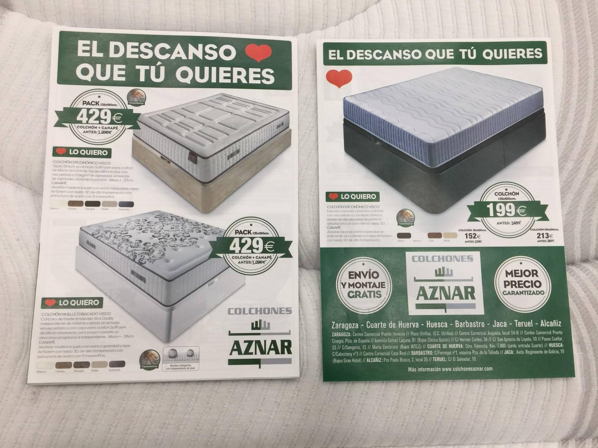 Folleto de Rebajas en Colchones Aznar ya disponible.