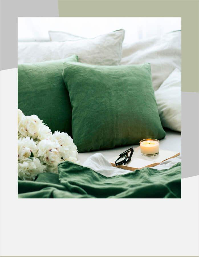 Tienda del descanso, almohadas y fundas (ropa de cama)