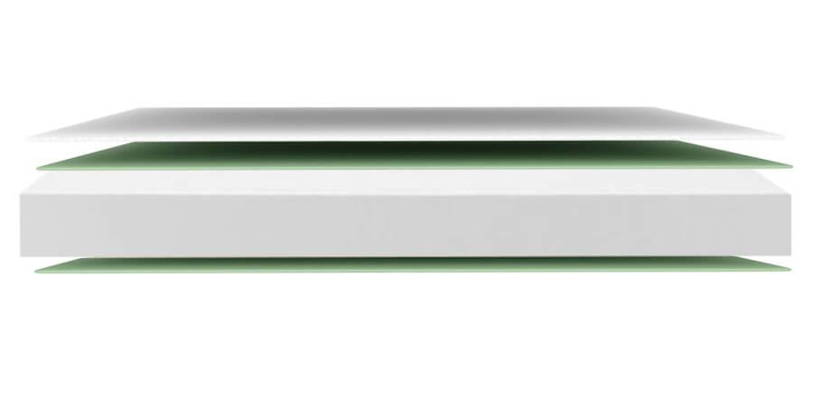 Colchon con una ligera adaptabilidad gracias al material Visco de su acolchado. Su soporte de espumación proporciona una firmeza progresiva en la tumbada
