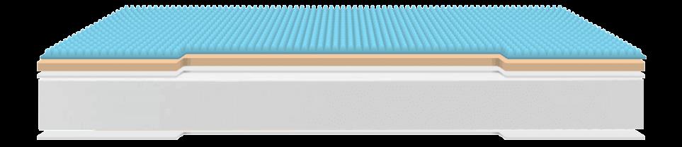 Colchón con núcleo especial de gel, descanso de calidad