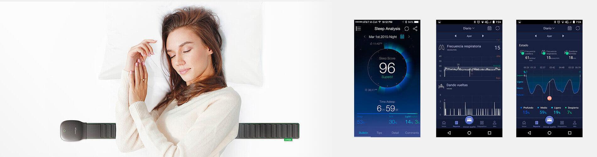 Nuestro monitor del sueño es una aplicación muy innovadora con alto grado de precisión.